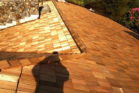 brown colored roof
