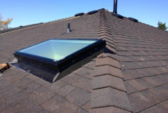installed skylight on the roof